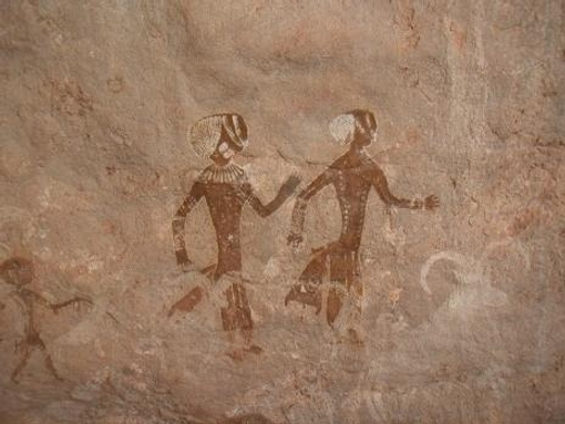 Art rupestre période des têtes rondes (Tassili)