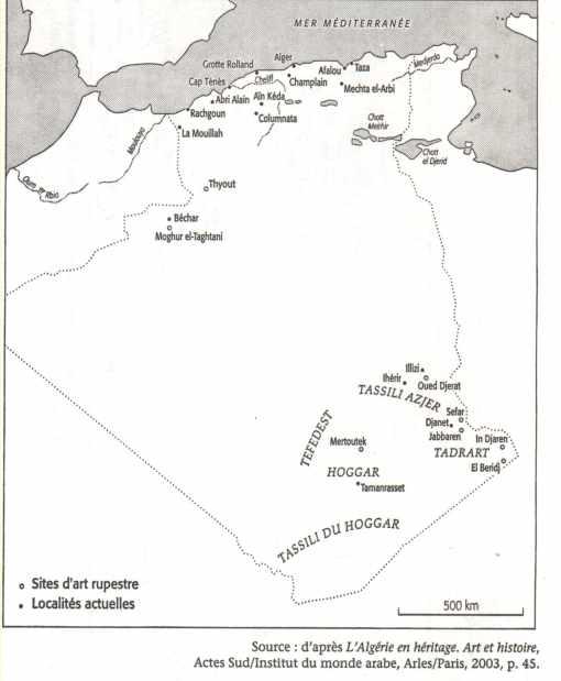 Carte algérie préhistoire