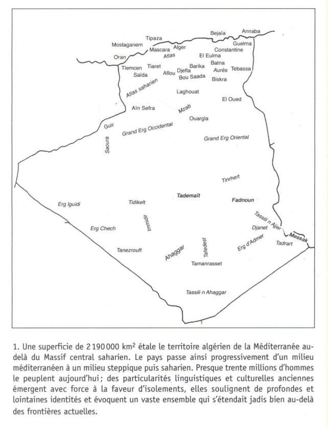 Carte Algérie Localités