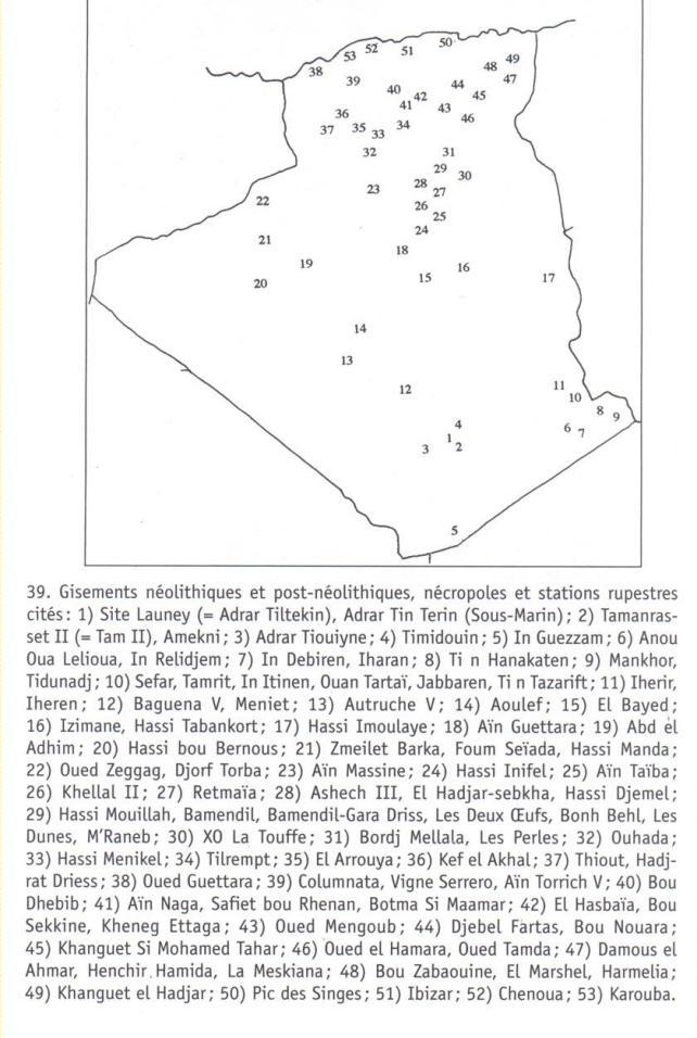 Sites néolithiques  et post-néolithiques