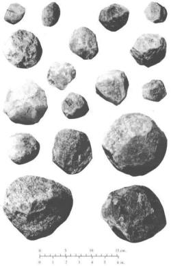Spéroïdes du site d'Olduvai (Tanzanie)