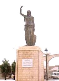 Statue de la Kahena à Khanchela dans les Aurès algériens