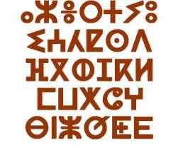 Ecriture tifinagh dérivée de l'alphabet libyque