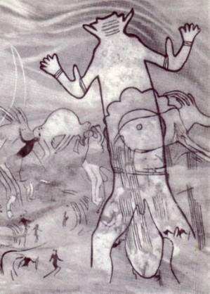 Reproduction fresque Grand Dieu aux orantes (Sefar)