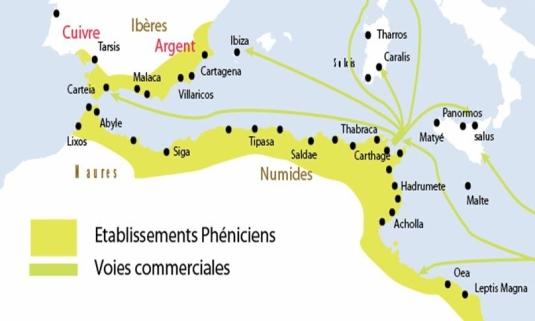 Comptoirs phéniciens et Carthage