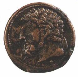 Grand bronze à l'effigie de Massinissa (éléphant au revers)