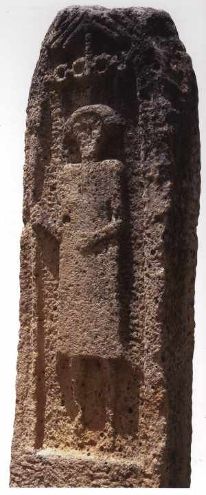 Stèle menhir d'Aïn Khanga (Sila - sud Constantine)