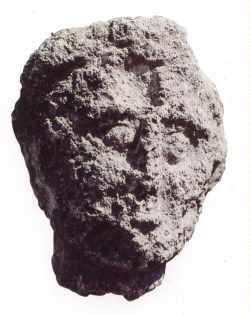 Tête sculptée portant diadème (tombeau de Ben Renane)